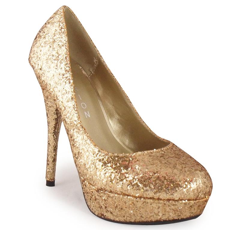 new womens gold glitter platform shoes 3 8 ebay