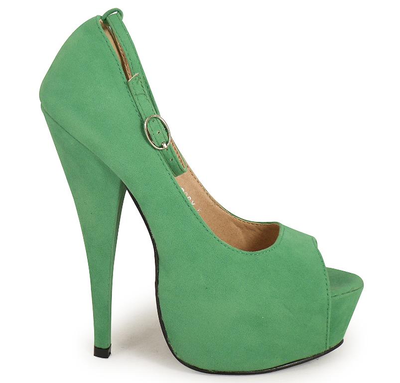 new green suede platform court shoes 3 8 ebay